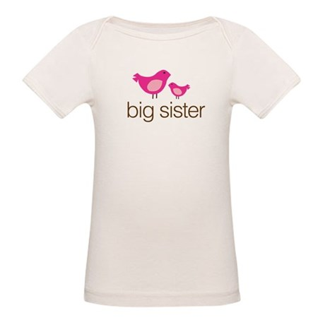 the little sister pink brown Organic Baby T-Shirt
