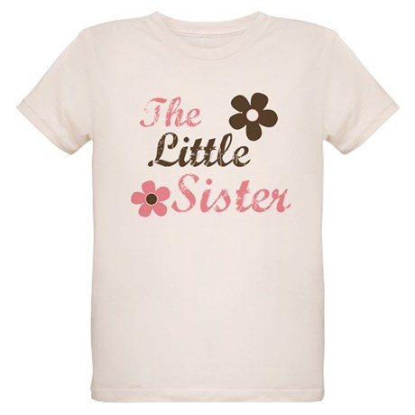 the little sister pink brown Organic Kids T-Shirt