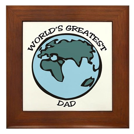 Greatest Dad Framed Tile