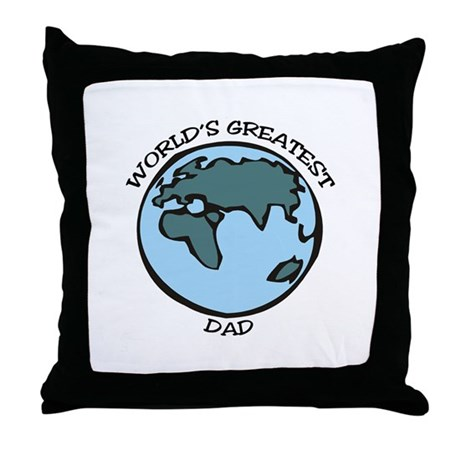 Greatest Dad Throw Pillow