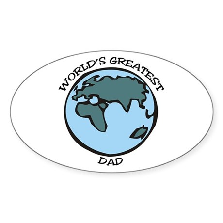 Greatest Dad Oval Sticker
