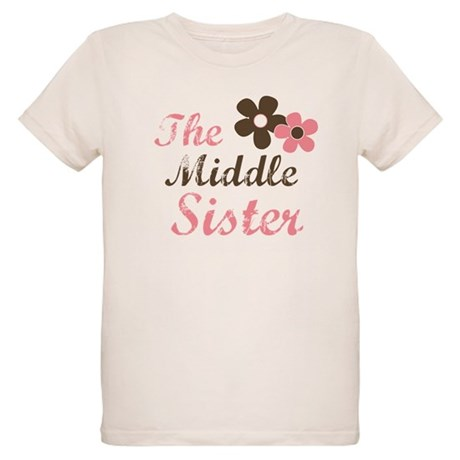 the middle sister pink brown Organic Kids T-Shirt