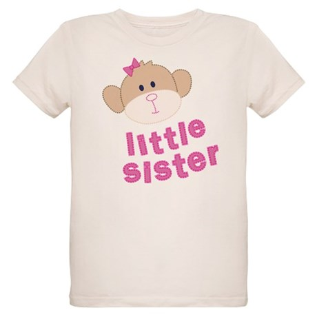 little sister monkey Organic Kids T-Shirt