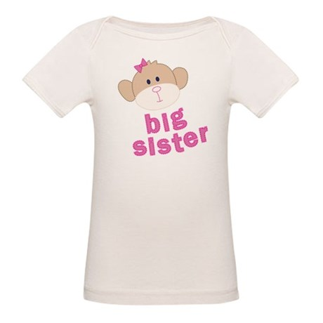 big sister monkey Organic Baby T-Shirt