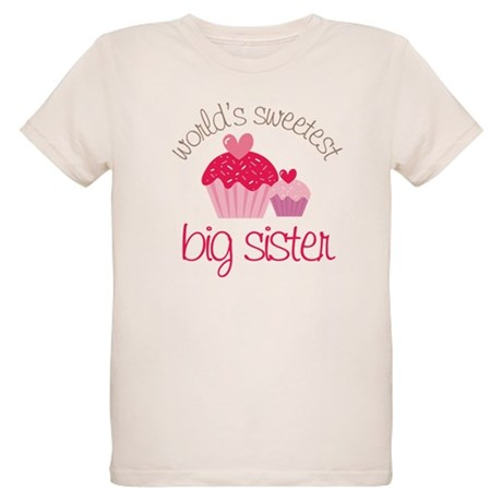 world's sweetest big sister Organic Kids T-Shirt