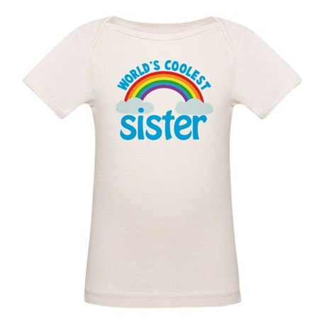 world's coolest sister Organic Baby T-Shirt