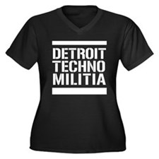 Detroit Techno Militia Women's Plus Size V-Neck Da
