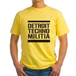 Detroit Techno Militia Yellow T-Shirt