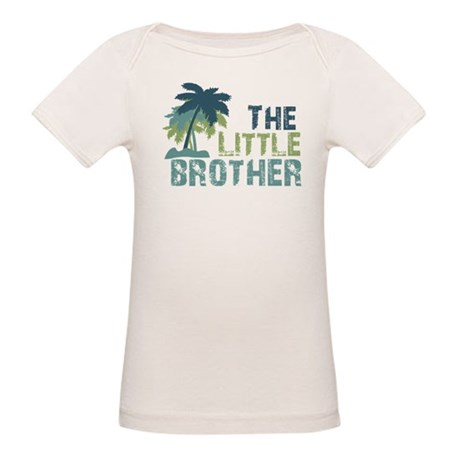little brother palm tree Organic Baby T-Shirt