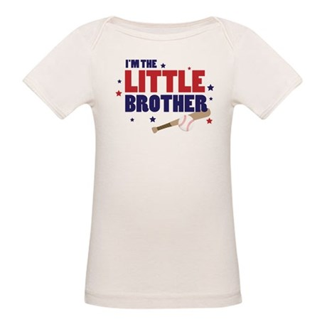 little brother baseball Organic Baby T-Shirt