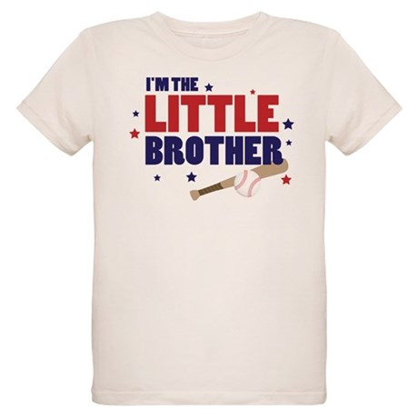 little brother baseball Organic Kids T-Shirt