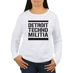 Detroit Techno Militia Women's Long Sleeve T-Shirt