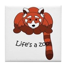 Red panda Tile Coaster