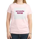 OSTEOPATHY  ROCKS Women's Pink T-Shirt