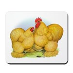 Buff Cochin Rooster and Hen Mousepad