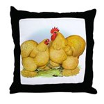 Buff Cochin Rooster and Hen Throw Pillow