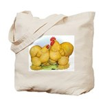Buff Cochin Rooster and Hen Tote Bag