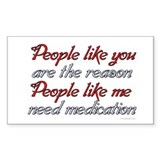 People like you ... Rectangle Decal