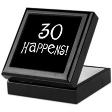 30th birthday gifts 30 happens Keepsake Box