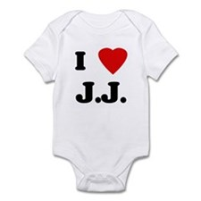 I Love J.J. Infant Bodysuit