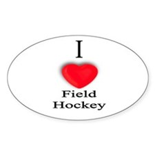 Field Hockey Oval Decal