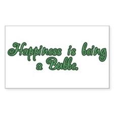 Happiness is being a Bubbe Rectangle Decal