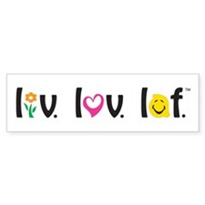 Live Love Laugh Bumper Bumper Sticker