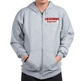 Mom is a Engineer Zip Hoodie