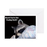Raccoon get well Greeting Cards