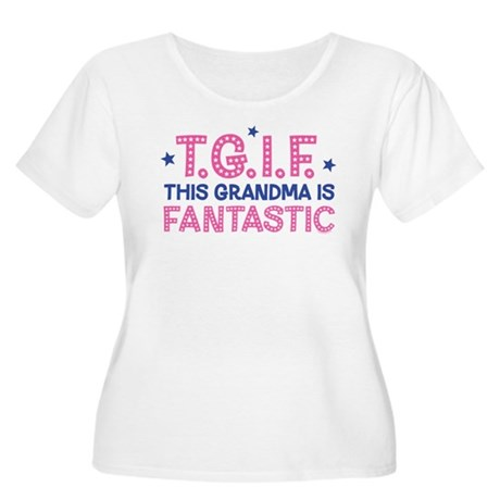 TGIF Fantastic Grandma Women's Plus Size Scoop Nec