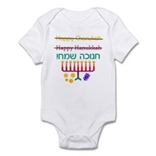 How to Spell Happy Chanukah Infant Creeper