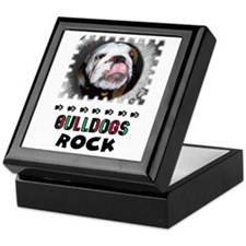 BULL DOGS ROCK Keepsake Box
