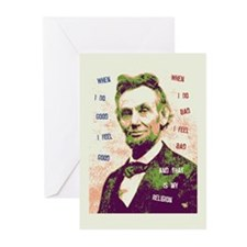 Lincoln Religion Greeting Cards (Pk of 10)