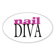 Nail Diva Oval Decal
