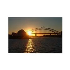 Sydney Sunset Rectangle Magnet