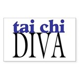 Tai Chi Diva Rectangle Decal