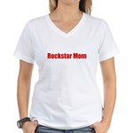 Rockstar Mom Women's V-Neck T-Shirt