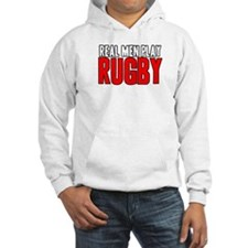 Real Men Play Rugby Jumper Hoody