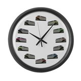 Monorail Large Wall Clock
