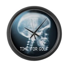 Funny Discgolfer Large Wall Clock