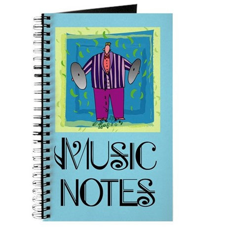Funny Cymbals Player Music Notes Journal