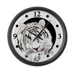 White Tiger Large Wall Clock