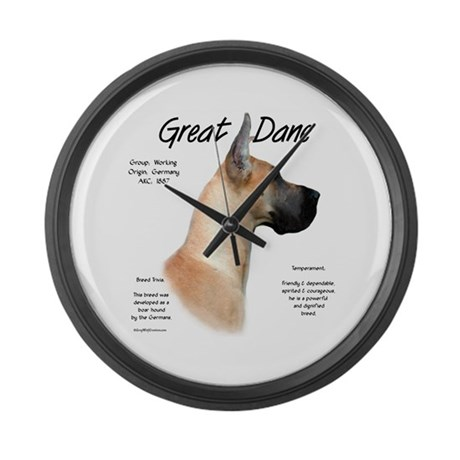 Fawn Great Dane Large Wall Clock