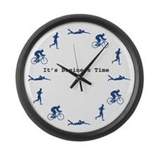 It's Business Time Triathlon Large Wall Clock