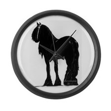 Funny Friesian horse Large Wall Clock