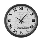 I Am a Marathoner Large Wall Clock
