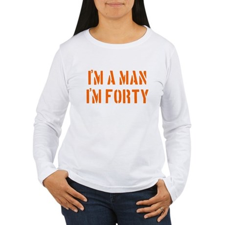 I'm A Man I'm 40 Women's Long Sleeve T-Shirt