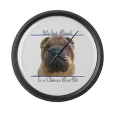 Shar-Pei Best Friend2 Large Wall Clock