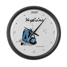 Skydiving Equiptment and Gear Large Wall Clock