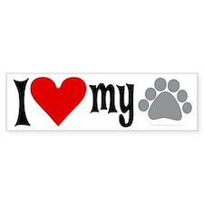 love Hemingway cat Bumper Bumper Sticker